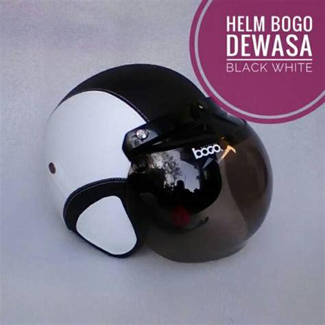Helm Bogo Kaca Cembung Hitam helm bogo kulit kaca cembung sni malang surabaya murah