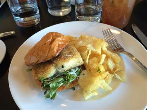 market table bistro reservations catfish sandwich with kettle chips picture of market