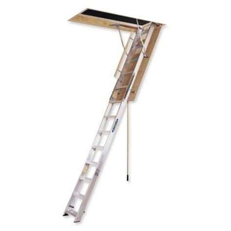 werner 12 ft 25 in x 66 in aluminum attic ladder with