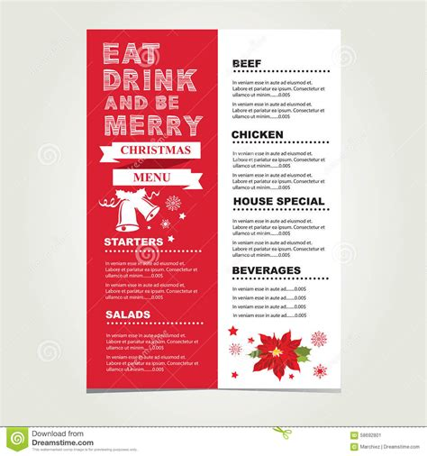 menu invitation template restaurant and menu invitation stock