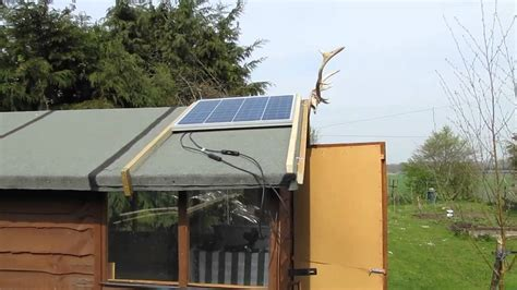 Solar Shed Power by 12v Solar Power Shed Setup 50w Solar Panel
