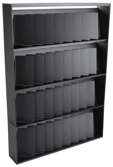 this black magazine rack is for retail stores
