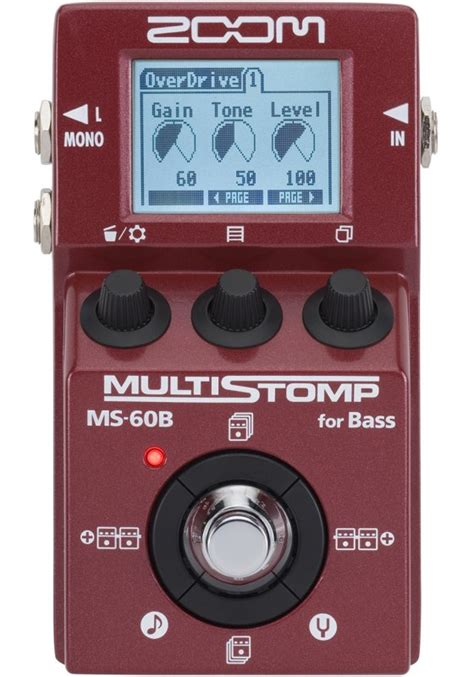 Zoom Multistomp zoom multistomp ms 60b for bass effects database