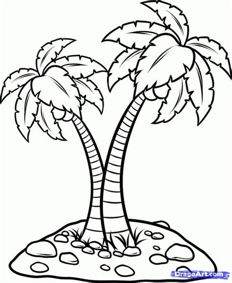 tree coloring page pdf coconut palm tree coloring page coloring home