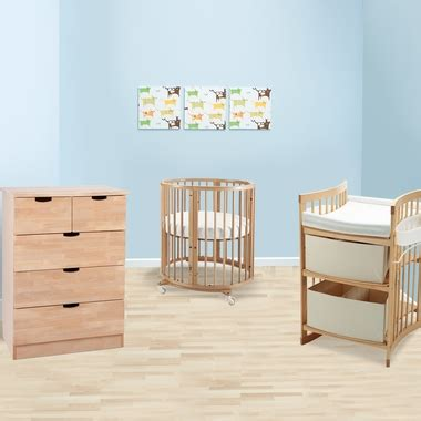 Mini Crib With Drawers Stokke Sleepi 3 Nursery Set Mini Bundle Crib 5 Drawer Dresser And Care Changing Table