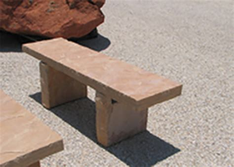 flagstone bench other natural stone products southwest landscaping