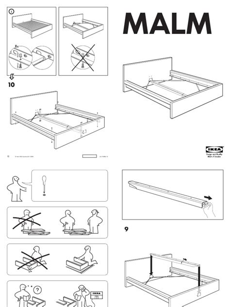 malm bed assembly ikea malm bed assembly instructions queen