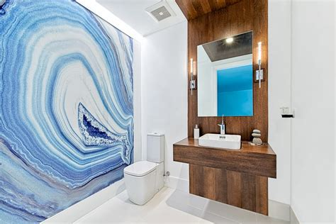 pleasing white vessel with floor tile stone slab wall