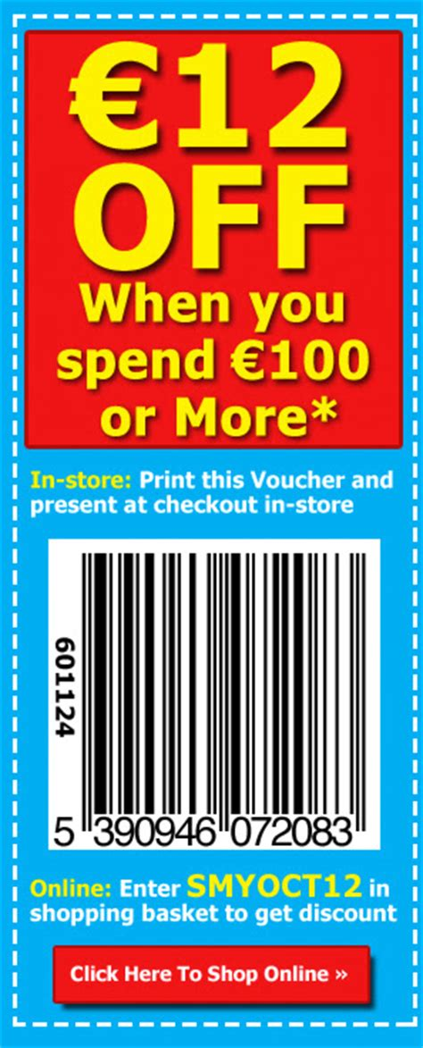 printable smyths vouchers free 12 money off voucher clare with the hair