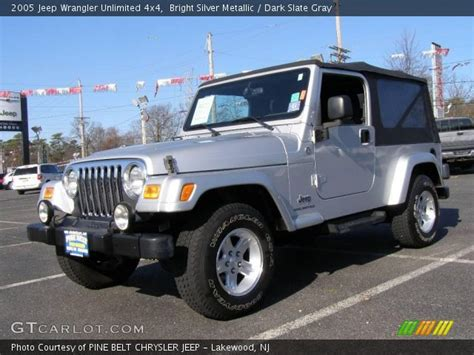 2005 jeep unlimited interior bright silver metallic 2005 jeep wrangler unlimited 4x4