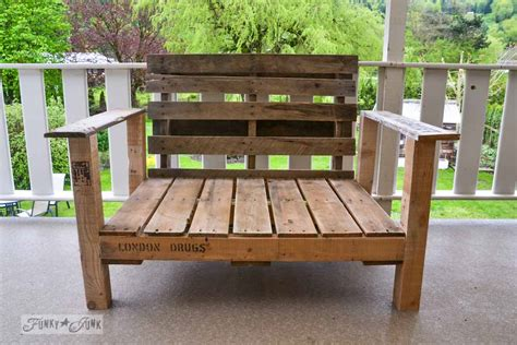 How To Build A Patio Chair Pallet Wood Patio Chair Build Part 2 Funky Junk Interiorsfunky Junk Interiors