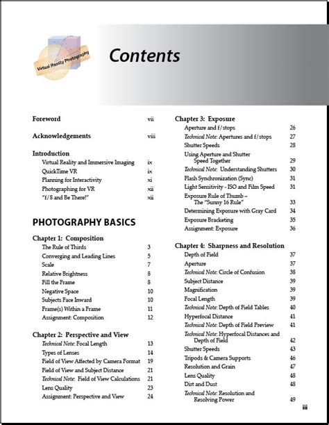 Book Table Of Contents by Vr Photography Book By Highton Table Of Contents