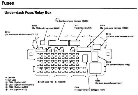 honda main relay wiring diagram honda  honda civic diagram
