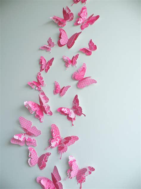 Butterfly Decor by 3d Butterfly Wall Decor Quot Fancypants Quot Set Felt