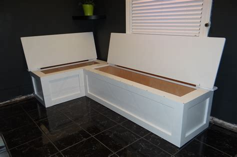 used storage bench corner banquette bench with storage