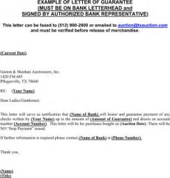 Exle Guarantee Letter Visa Personal Guarantee Form For Excel Pdf And Word