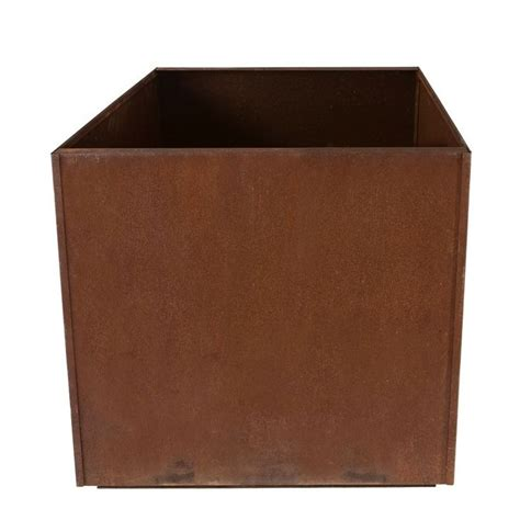Steel Planter Boxes by Square Metal Corten Steel Planter Box Rust Large 16 Quot Cube