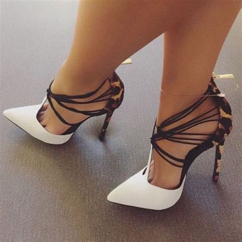 black and white patterned heels white and khaki leopard print heels t strap strappy pumps