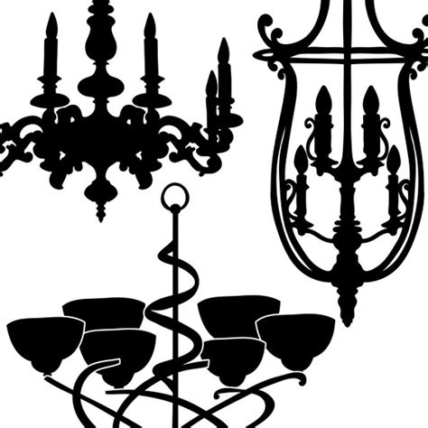 chandelier photoshop brushes chandelier silhouettes ps brushes illustrations on