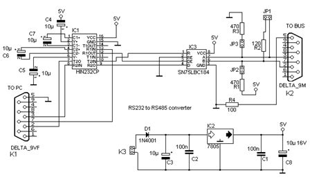 rs232 to rs485 converter circuit diagram the dci a rs485 home network
