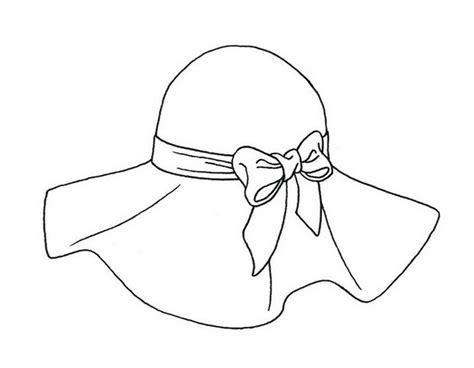 beach hat coloring page drawn beach beach hat pencil and in color drawn beach