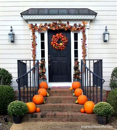 fall decorations for outside the home decorate your porch for fall holiday decorating ideas home