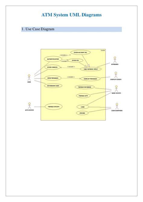 uml diagrams of atm system uml daigrams for bank atm system
