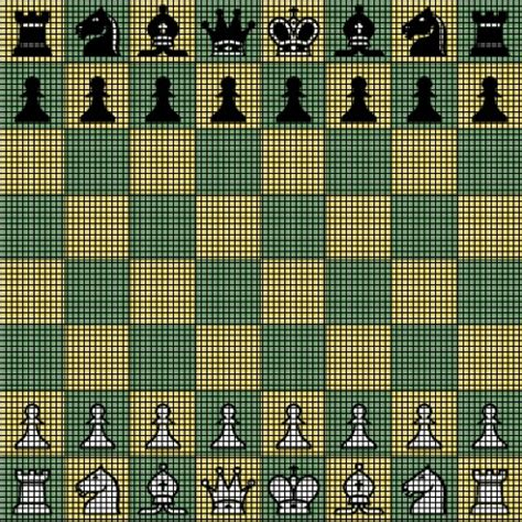new pattern up board chess board crochet pattern