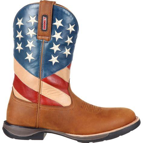 comfortable mens cowboy boots rocky lt men s comfortable lightweight american flag