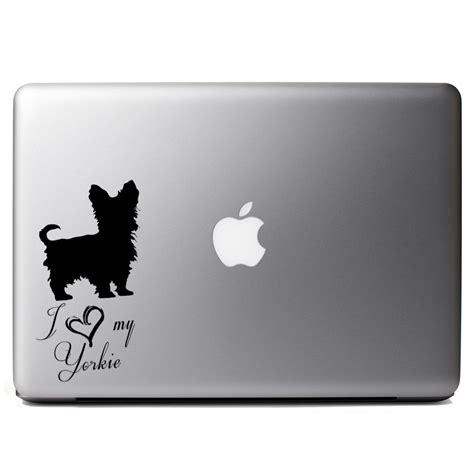 yorkie stories i my yorkie puppy vinyl sticker laptop decal