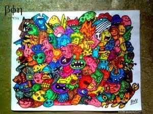 doodle inc doodle wallpaper doodle monsters by bon09