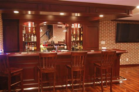 custom basement bars more home bar design