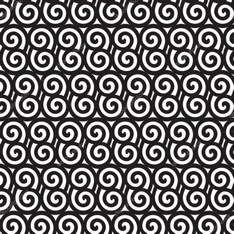 oriental pattern black and white black and white asian style spiral pattern stock vector