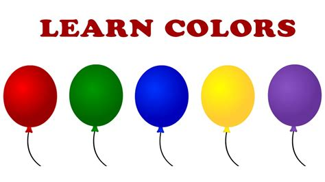 Learn Balloon Colors, Teach Colours, Learning Colors for