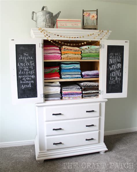 Craft Storage Armoire by The Craft Patch The Glorious Fabric Storage Armoire