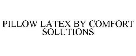 comfort solutions inc pillow latex by comfort solutions trademark of king koil