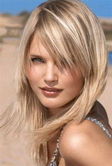 medium length hairstyles mid 20s layered hairstyles for fat faces female hairstyles for