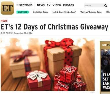 Online Contests Giveaways - www etonline com giveaways 12 days of christmas giveaway