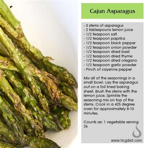 Hcg Detox Phase by Phase 2 Cajun Asparagus Healthy Hcg Veg
