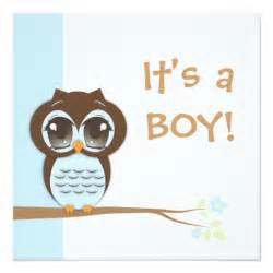 baby owl it s a boy baby shower invitation zazzle