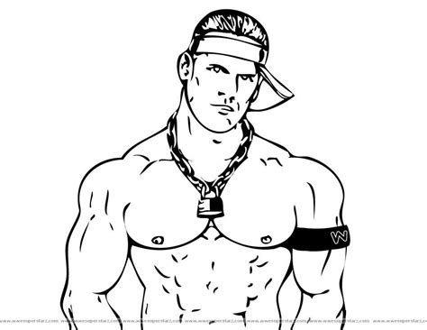 coloring page wwe john cena printable coloring pages free printable wwe