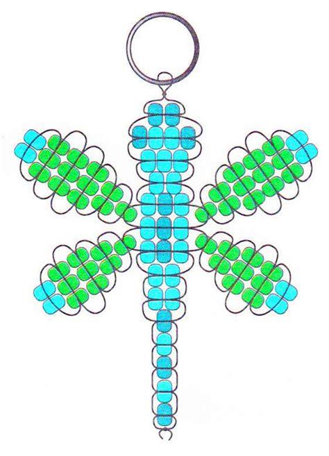 beaded dragonfly key chain