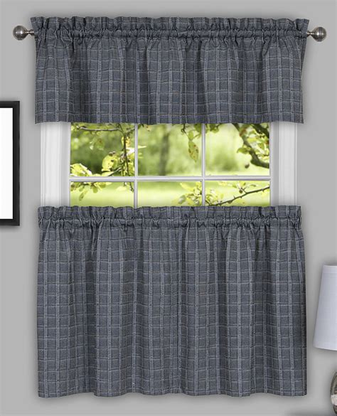 Gray Kitchen Curtains Sydney Country Curtain Tier Pair Grey Achim Cafe Tier Curtains