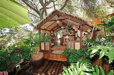Tiki Hut House L A Studio City Home With Tiki Hut Bar For Sale