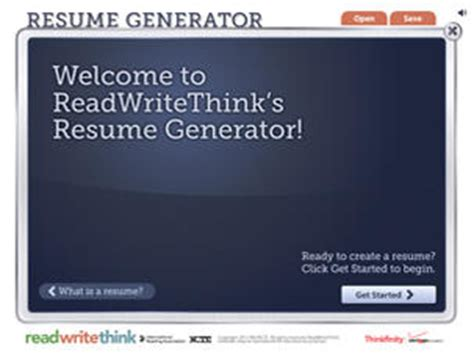 resume generator readwritethink