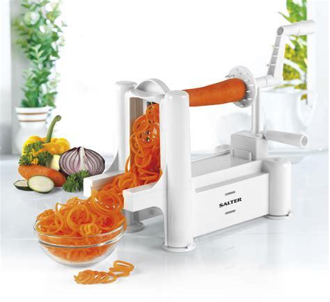 Kitchen Spiralizer by Salter White Fruit And Vegetable Spiralizer Kitchen Tools Salter