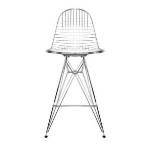 Eames Style Stool by Charles Eames Charles Eames Style Wire Eiffel Chrome Bar