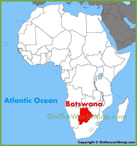 botswana on a world map botswana location on the africa map