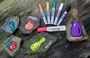 How To Start A Backyard Vegetable Garden Gardening With Kids Rock Vegetable Markers Itsysparks