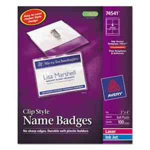 avery template name badge avery 74541 name badge holders kit with laser inkjet inserts